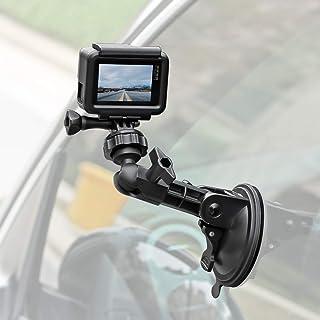 Leistungsstarke Saugnapf Kamera Halterung mit Stativadapter und Handyhalterung für GoPro Hero 9/8/7/6/5 schwarz, 4 Session, 4 Silber, 3+, iPhone, DJI Osmo Action, Samsung Galaxy, Google Pixel und mehr