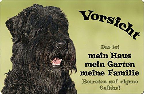 +++ Schwarzer RUSSISCHER Terrier - Metall WARNSCHILD Schild Hundeschild Sign - SRT 06 T1