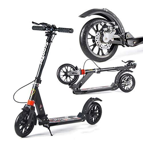 Cityroller Erwachsene, Riesenrad-Tretroller, Jugend-Erwachsenenroller Mit Doppelbremse, Doppelfederung, Stylischer Pendler-Klapproller, Zuladung 150KG (Nicht Elektrisch)