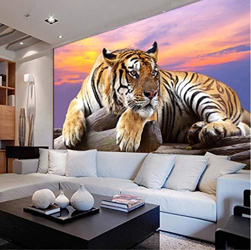 Rureng Fototapete Nach Maß Tiger Animal 3D Große Wand Schlafzimmer Wohnzimmer Sofa Tv Hintergrund Eingang-150X120Cm