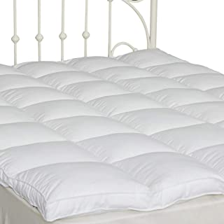 """Mattress Topper Down Alternative Queen Size 2"""" Thick Quilted Pillow Top Mattress Cover Soft and Warm for All Seasons (60''x80'')"""