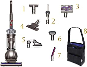 Dyson Ball (Formerly DC65) Animal + Allergy Complete Upright Vacuum with 7 Tools - HEPA Filtered - Corded (Silver 7 Tools + Accessory Bag)
