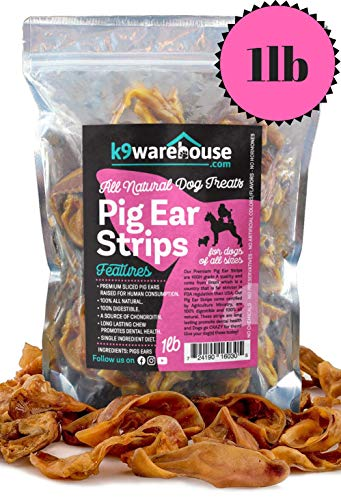 k9konnection Pig SLIVERS for Dogs | 1 Pound All Natural Pigs Ear...
