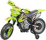Playtastic Motorrad: Kinder-Elektromotorrad mit Stützrädern, Licht- & Sound-Effekte, 3 km/h...