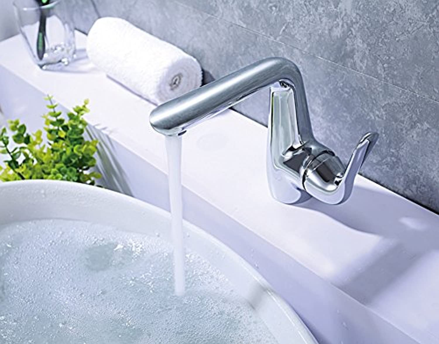 Hot and Cold Water Mixer Switch Bathroom Basin taps Bath Sink Faucet Accessories