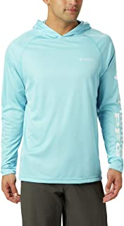 Columbia Men's PFG Terminal Tackle Heather Hoodie, Breathable, UV Sun Protection