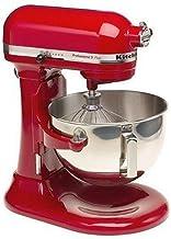 KitchenAid Professional 5 Plus Stand Mixer RKV25G0XER, 5-Quart, Empire Red, (Renewed)