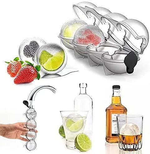 Cubo de hielo Whiskey Maker Esfera de la cocina Herramienta de la bola de hielo Molde redondo bola de hielo