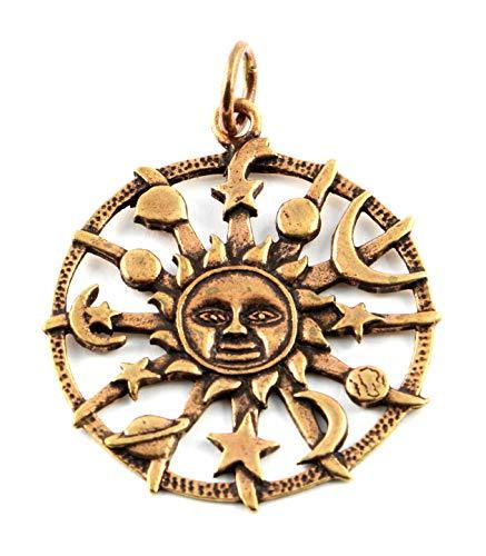 Anhänger Sonnen Amulett, Bronze Lebenskraft, Selbstverwirklichung Keltischer Schmuck Kettenanhänger Wikinger
