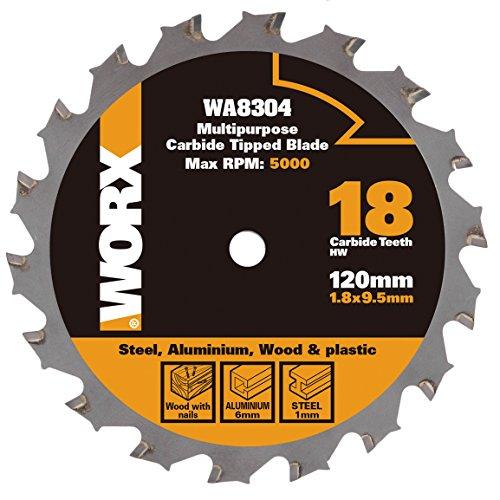 Worx wa8304worxsaw 120mm Mehrzweck Klinge: Holz/Metall/Fliesen–Silber (1)