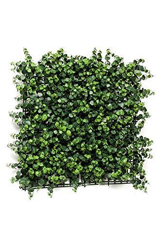 artplants.de Set 7 x Estera de eucalipto sintético JASE, Espacios semiprotegidos, Verde, 50x50cm - Pack Jardín Vertical - Plantas Falsas - Ocultación