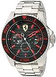 Scuderia Ferrari 0830311 - Reloj de Pulsera Hombre, Acero Inoxidable, Color Plata