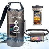 Etechydra Dry Bag - Bolsa Impermeable de 20 l, Impermeable para teléfono móvil + Bolsa, Bolsa Impermeable, Bolsa para Mochila, Bolsa para Exteriores para Barcos, Playa, Kayak, Color Negro