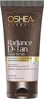 OSHEA Radiance D-Tan Face Scrub, White, 120 g