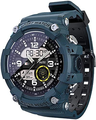 wyingj Reloj Inteligente Fitness Tracker Deportes Bluetooth IP68 Impermeable Reloj Tracker-A