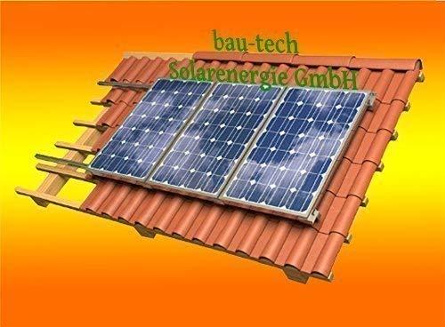 Solar Modul Montage Halterung für 2 Module Rahmenhöhe 35mm für Pfannendach von bau-tech Solarenergie