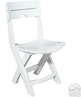 Adams Manufacturing Quik-Fold White Patio Chair