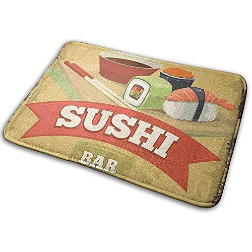 N/A Abstracte retro sushi Icon ingang vloermat Home Decor tapijt binnen rechthoekige deurmat keuken comfort matten