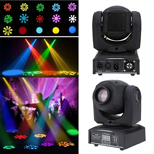 Bühnenbeleuchtung Moving Head Licht 8 Farben und 8 Gobos Spot-Licht Led-Ton aktivierte Professionelle Kanal Bühne Licht for Disco KTV Club Party Hochzeit ANGANG
