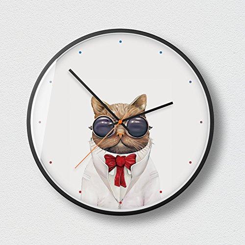 Tao Cowboy Garfield Wanduhren Modern Style Silent Sweeping 12,0 Zoll große Zifferblatt Quarzuhr...