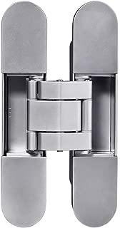 TamBee Invisible Hinge Heavy Duty Zinc Alloy Concealed Hidden 180 Degree Swing Hinge 3 Way Adjustable Butt Hinge 6 x 2.5 x 1 inch (1 Hinge)