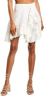 Womens Asymmetrical Skirt, M, White
