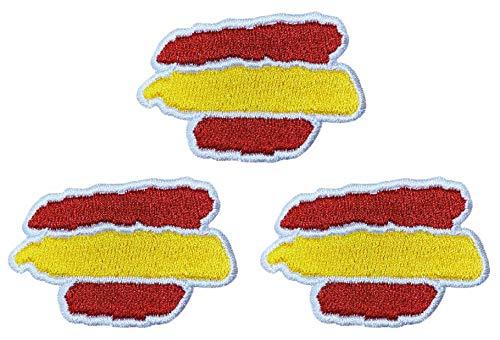 Pack de 3 Banderas de España parches autoadhesivos, parches...