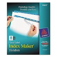 AVE11411 - Avery インデックスメーカー パンチング クリアラベルタブ ディバイダー