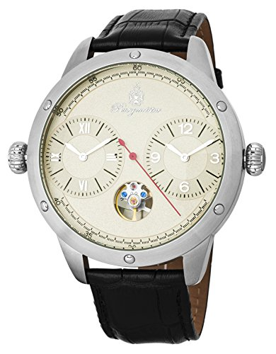 Burgmeister Herren Datum klassisch Automatik Uhr mit Leder Armband BM233-182