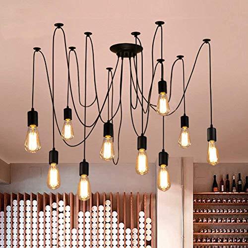 Oursun Kronleuchter Industrie Pendelleuchte Vintage Retro Spinne Lampe Hängend Deckenleuchte Hängelampe Pendellampe für Schlafzimmer Wohnzimmer Esszimmer