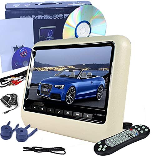 """MaSYZBF 9"""" Reproductor de DVD Portátil para Niños en Viaje con 8Horas Batería Recargable Compatible con Tarjeta SD y USB, Reproducción Directa de RMVB/AVI / MP3 / JPEG"""