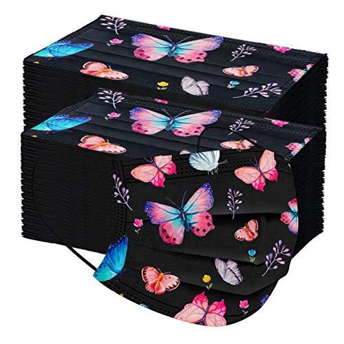 10/20/50/100pc Unisex Erwachsene Schal Universal Fashion 3 Schicht Schmetterling gedruckt niedlich elastische Earloop IndustrieSchal -21123-28
