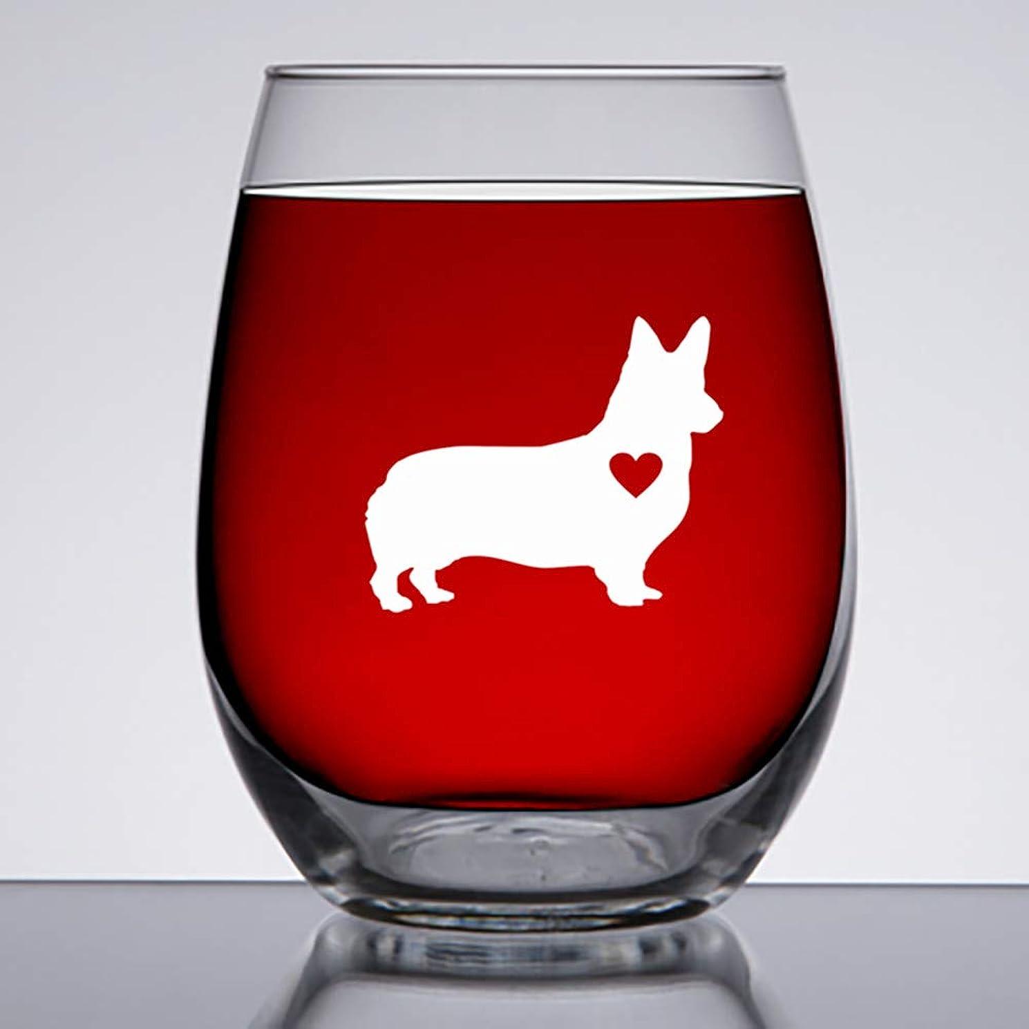 結婚式識別する医薬品Corgi Gifts - 大きな15オンスステムレスワイングラス - コーギー愛好家へのユニークなギフト