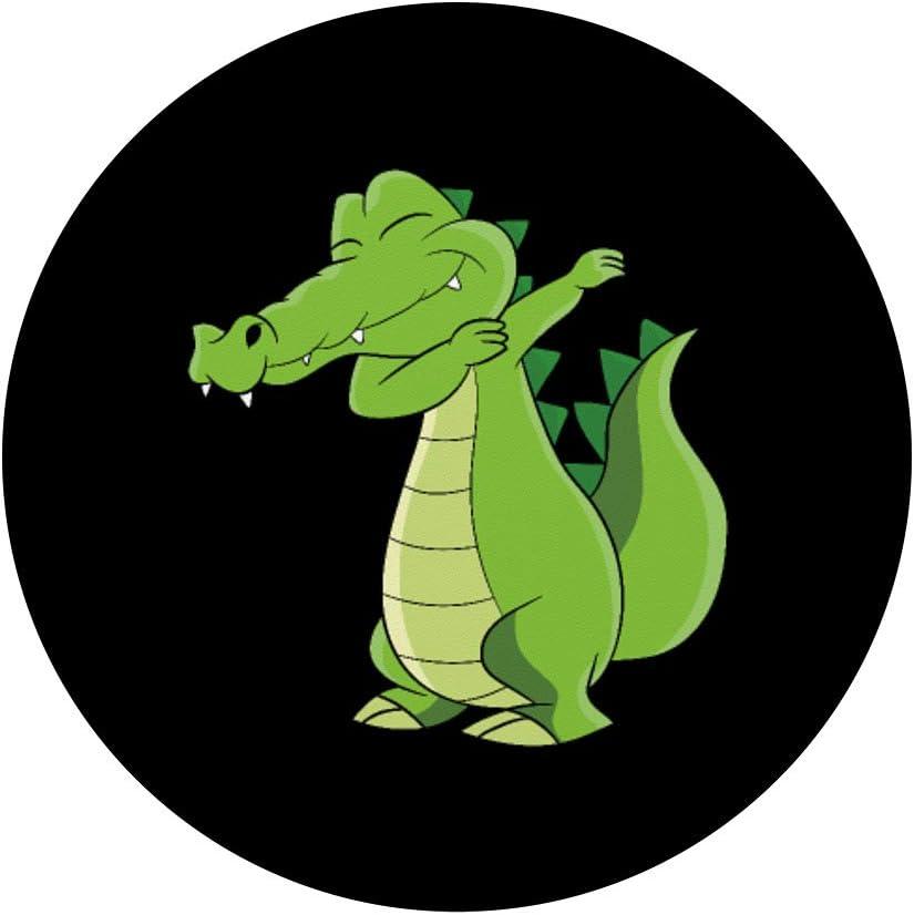 Regalo cocodrilo bailando cocodrilo divertido PopSockets PopGrip Agarre intercambiable para Tel/éfonos y Tabletas
