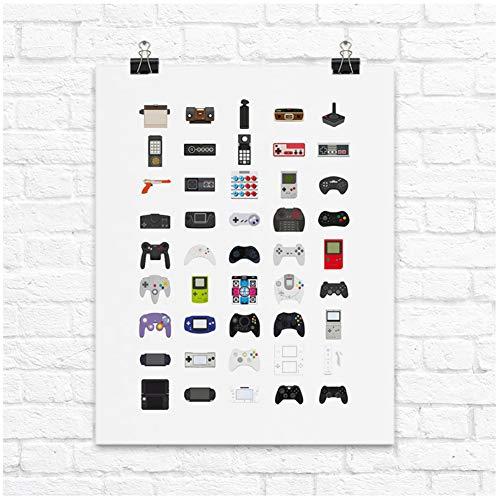 Generic Retro Game Controllers Leinwand Wand Kunstdruck Nordic Poster Abstrakte Malerei Skandinavischen Dekorative Bild Moderne Room-60x80cm-No Frame