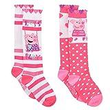 Peppa Pig Girls' Socks, Medium Kids Shoe Size 10-4