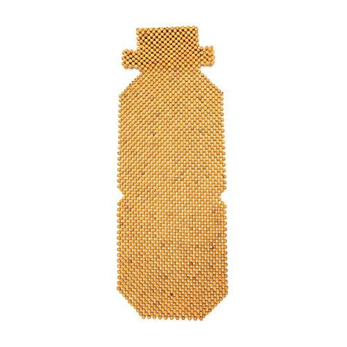 Ecoticfate - Funda de Asiento de Coche de Perlas de Madera Beige para Verano, Universal, con Perlas de Madera, 45 x 130 cm