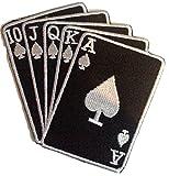 b2see Aufnäher Patches für Jacken Jeans Kleidung Bügelbilder Flicken Stoff Patch Kleider Aufnäher Patches Aufbügler zum Aufbügeln 10 cm Poker Karten