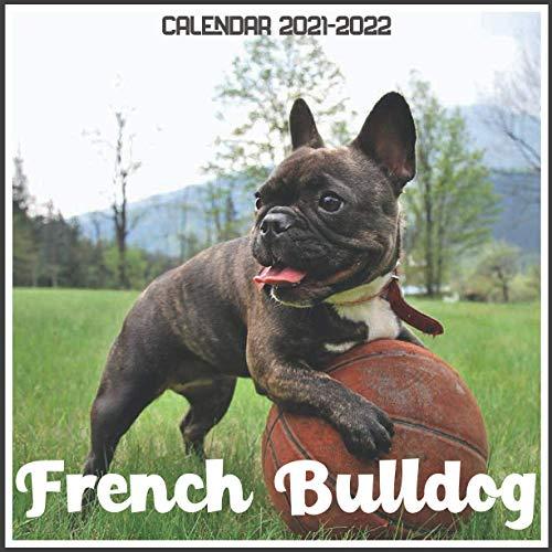 French Bulldog Calendar 2021-2022: April 2021 Through December 2022 Square Photo Book Monthly Planner French Bulldog, small calendar