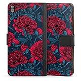 DeinDesign Etui Compatible avec Sony Xperia E5 Etui Folio Etui magnetique Fleur Couronne de Fleurs...