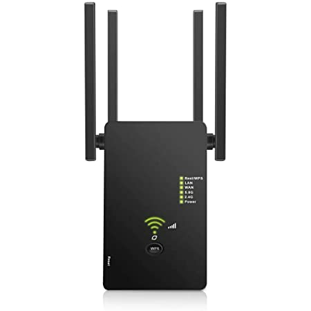 Urant WiFi Range Extender 1200Mbps Signal Booster Range Repeater, Wireless WiFi Amplifier Add Coverage up to 1200 sq.ft, in Your Home, Extend 2.4GHz & 5GHz Wi-Fi