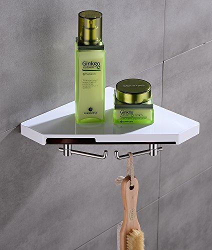 Bella Brunnen–Estantería esquinera para cocina con 2ganchos ducha esquina blanco Repisa de...