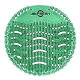 Uri-Fresh Urinalsieb und Geruchsentferner (Kiwi) 3.0 Urinal-Matte, Grüner Kiwi,10 Stück