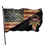 Oaqueen Gartenflagge Company C (Ranger in der Luft), 75. Infanterie-3-mal-5-Fuß-Flagge mit Ösen