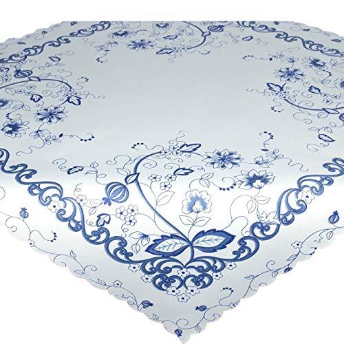Nappe de table VINTAGE BLEU / blanc / carré / 80x80 cm