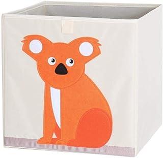 ZXXFR Panier À Linge Sale,Cute Cartoon Animal en Tissu Oxford Koala Orange Broderie Boîte De Rangement Pliable Organisateu...