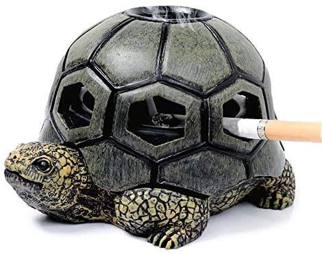 LISH Ashtrays Ash Tray Resin Turtle Smoke Cigarette Ashtray Crafts Decoration Ashtray for Home Outdoor Office Car Boyfriend Gift Creative Ashtray/Green