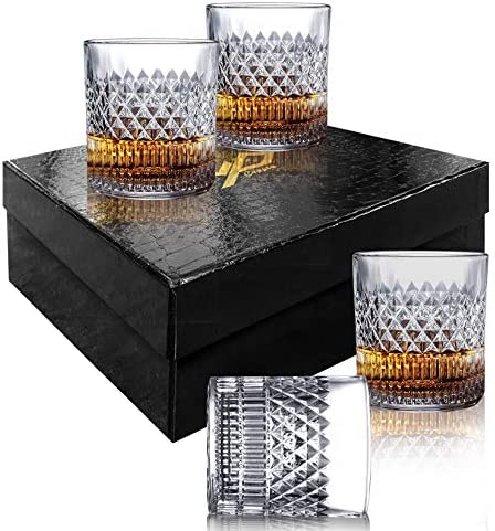 MSAAEX Whiskey Glasses Old Fashioned Whiskey Glass Barware For Scotch Bourbon Liquor and Cocktail product image