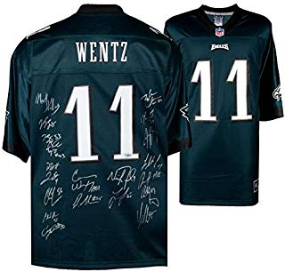 CARSON WENTZ & Philadelphia Eagles Team Signed NFL Pro-Line Jersey FANATICS - Fanatics Authentic Certified