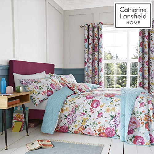 Catherine Lansfield Salisbury Easy Care Double Duvet Set Multi
